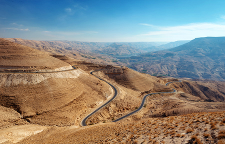 King's Highway Jordan taken in 2015 스톡 콘텐츠