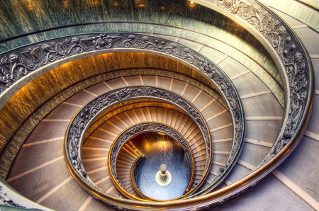 Vatican Staircase taken in 2015 Фото со стока