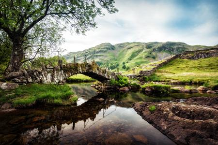 Slaters Bridge Lake District United Kingdom taken in 2015 Stock Photo