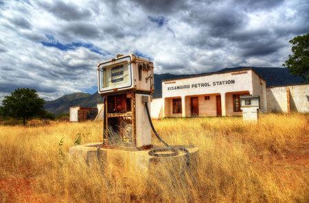 Kisangiro, Tanzania - 25th July 2013, Abandoned Petrol Station taken in 2015