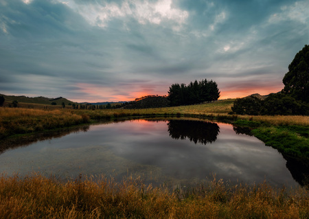 New Zealand Sunset taken in 2015 Banque d'images