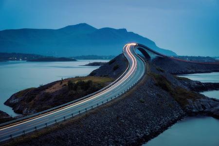 Atlantic Ocean Road Norway taken in 2017 스톡 콘텐츠