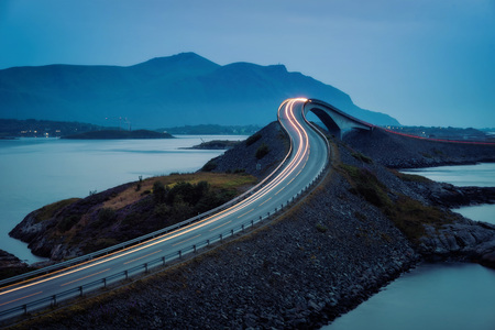 Atlantic Ocean Road Norway taken in 2017 Stockfoto - 95232283