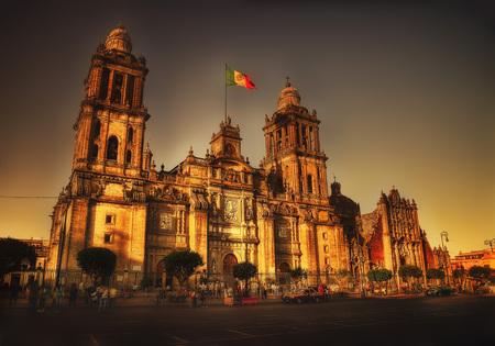 Catedral Metropolitana de la Ciudad de Mexico Stadscentrum van Mexico Stockfoto - 95822351