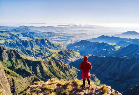Uitzicht op het Amfitheater in Zuid-Afrika, gemaakt in 2015 Stockfoto