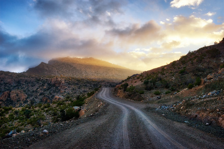Al Hajar Mountains in Oman.