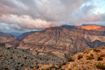 Al Hajar Mountains in Oman taken in 2015 Stock Photo