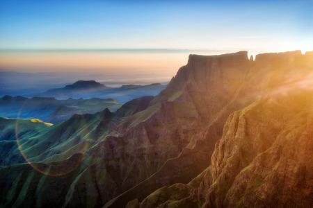 Drakensberg Amphitheatre in South Africa. Archivio Fotografico