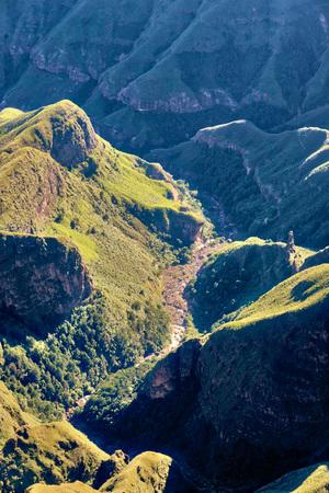 Drakensberg Amphitheatre in South Africa taken in 2015