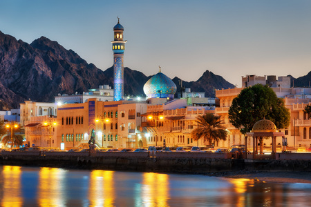 Muttrah Corniche, Muscat, Oman taken in 2015 Stock Photo