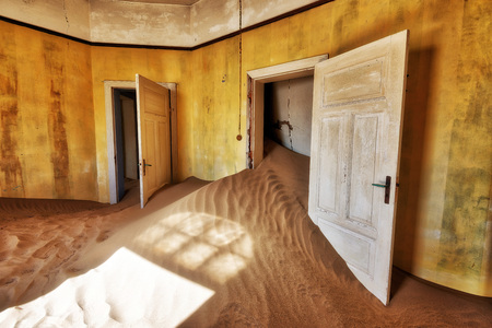Kolmanskop Deserted Diamond Mine in Southern Namibia taken in January 2018