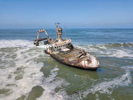 Ship Wreck along the Skeleton Coast in Western Namibia taken in January 2018