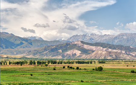 View from Burana Tower close to Bishkek, Kyrgyzstan Banque d'images