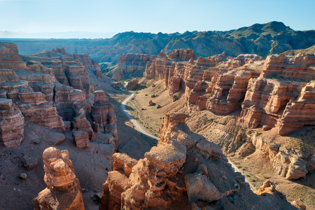 Charyn Canyon in South East Kazakhstan