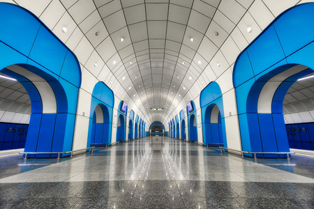 Metro Station in Almaty, Kazakhstan, taken in August 2018. Editorial