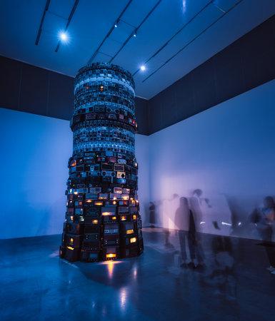 Babel by Cildo Meireles at Tate Modern, taken on 8th of September 2018 in London, UK taken in hdr 에디토리얼
