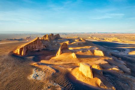 Dasht-e Lut Desert in eastern Iran 免版税图像