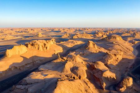 Dasht-e Lut Desert in eastern Iran taken in January 2019 taken in hdr 免版税图像