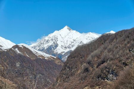 Mount Kazbek from the Distance