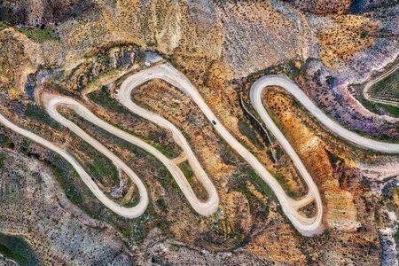 Bendy Mountain Road in Khosrov Forest State Reserve, Armenia Reklamní fotografie