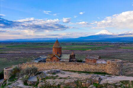 Khor Virab Monastry in Armenia Imagens