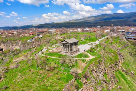 Garni Temple close to Yerevan in Armenia Imagens - 127996446