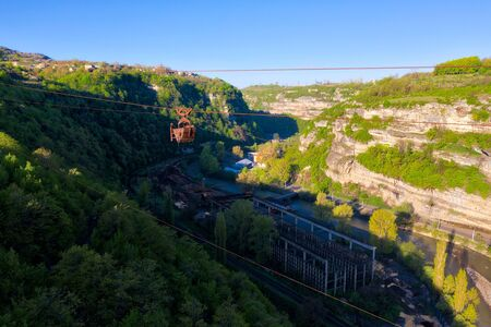 Chiatura Mining Town Cable Cars, Georgia Imagens