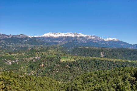 Taurus Mountains by Antalya, Turkey Imagens