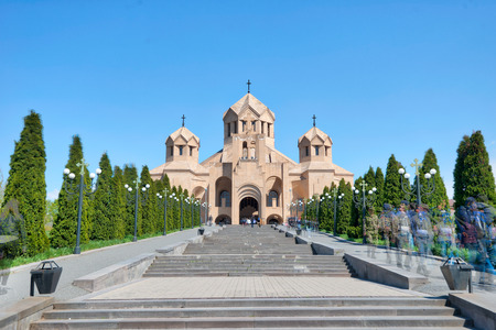 Saint Gregory The Illuminator Cathedral in Yerevan, Armenia Imagens - 128008220