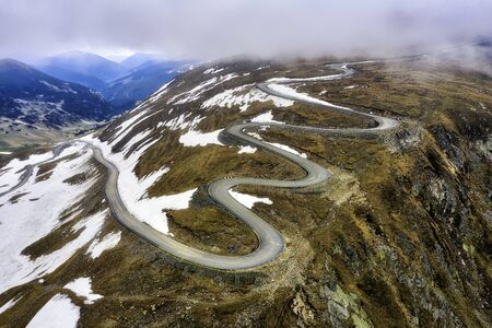 Transalpina with last snow of the winter in Romania, taken in May 2019
