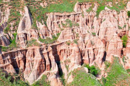 Rapa Rosie erosion canyon near Sebes, Romania, taken in May 2019
