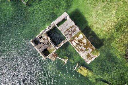 Rummu flooded prison in quarry, Estonia, taken in May 2019