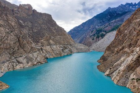 Karakoram Highway in the Northern Provinces of Pakistan, taken in August 2019 Stock Photo