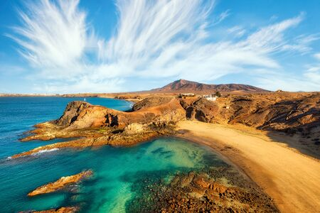 Papagayo Beach in Southern Lanzarote, Canary Islands, Spain, post processed in HDR Banque d'images