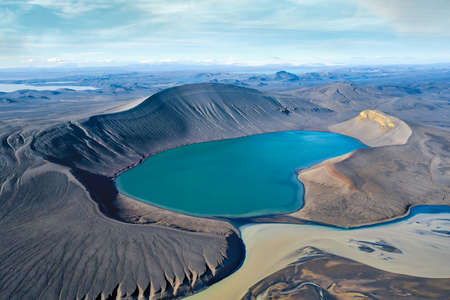 Skyggnisvatn Crater in the Iceland Highlands, taken in August 2020, post processed using exposure bracketing