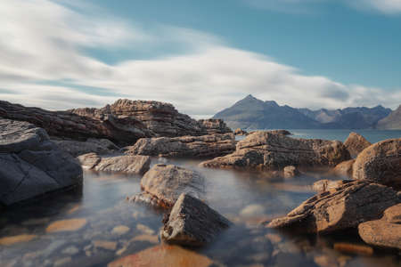 Elgol Beach, Isle of Skye, Long Exposure, taken in August 2020, post processed using exposure bracketing