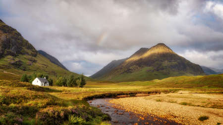 Buachaille Etive Mor in the Scotland Highlands taken in August 2020, post processed using exposure bracketing