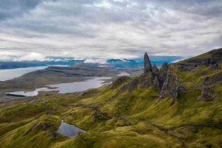 Old Man of Storr on the Isle of Skye in Scotland taken in August 2020, post processed using exposure bracketing