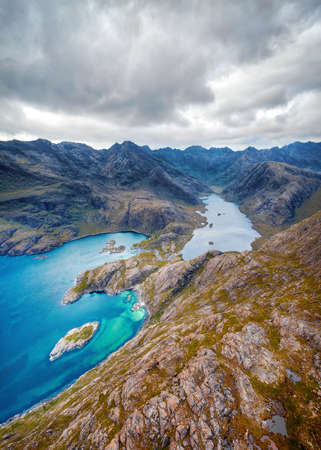 Loch Coruisk on the Isle of Skye, Scotland, taken in August 2020, post processed using exposure bracketing