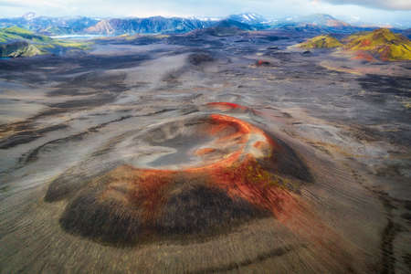 Volcano Craters in the Icelandic Highlands taken in August 2020, post processed using exposure bracketing
