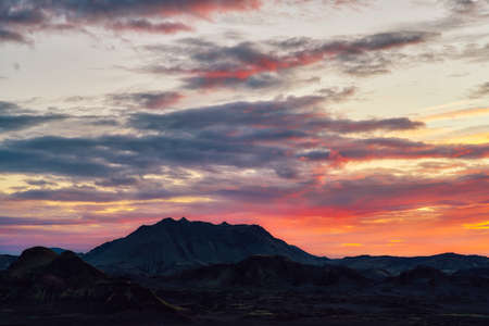 Sunset over Iceland's highlands in September 2020, post processed using exposure bracketing