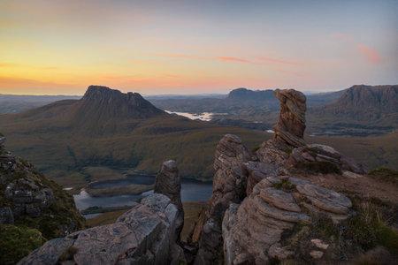 Scotish Highlands during Sunset taken in August 2020, post processed using exposure bracketing
