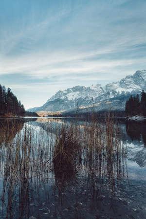 Eibsee in Southern Bavaria, Germany, taken in December 2020, post processed using exposure bracketing