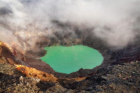 Volcano Santa Ana Crater Lake in El Salvador , post processed using exposure bracketing Banco de Imagens