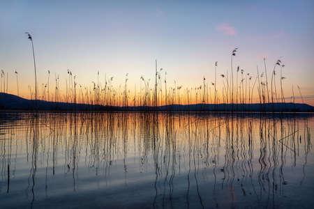 Kochel Lake an the Bavarian Alps in Germany, post processed using exposure bracketing