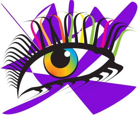 eye drops: Abstract eye