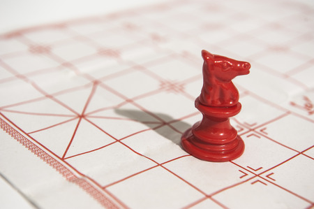 strategist: Chinese Chess Horse Stock Photo