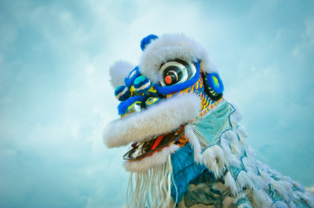 blue dragon: A chinese lion dance perfomance