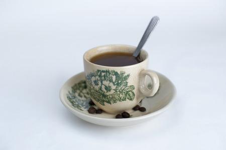 kopitiam: Traditional oriental Chinese coffee in vintage mug