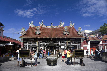 mercy: Chinese Kuan Yin Teng, or Temple of the Goddess of Mercy in Penang, Malaysia Asia